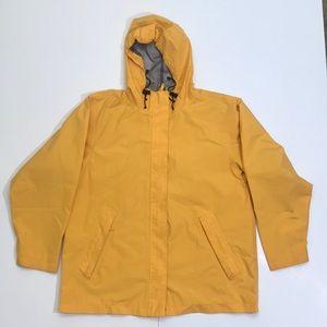 LANDS' END Women's Sz L (14-16) Yellow Rain Jacket